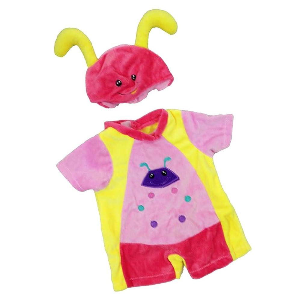 教育誓い軸人形服 アクセサリー 41cmドール用 ジャンプスーツ ロンパース ハット 4色選択 - レッド