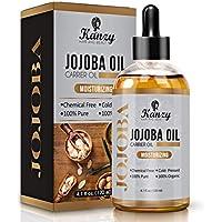 Kanzy Aceite de Jojoba Bio, 100% orgánico Puro prensado en frio Vegano 120ml,natural Hidratante para cabello, cara, cuticulas, pelo, masajes, Cuerpo y uñas Cosmetica Natural sin hexan