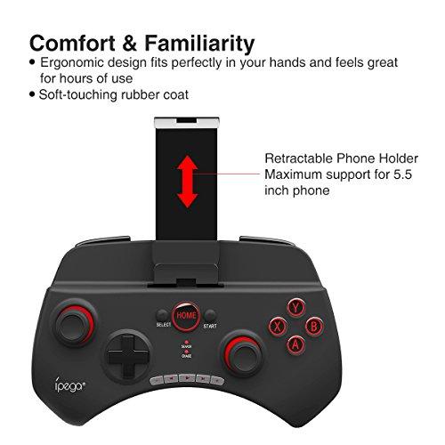 【2019最新進化版】PG-9025BluetoothコントローラーゲームパッドNintendoSwitch/Android/PS3/WindowsPC/SamsungGearVRなど対応荒野行動/Freefire対応日本語説明書
