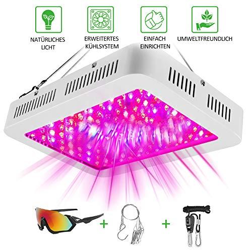 LED Pflanzenlampe 1000W Led Grow Lampe für Zimmerpflanzen UV Lampe Pflanzen Anzucht Vollspektrum Grow Light Einstellbar Wachstum Gemüse & Blüte Pflanzenlicht Hydroponic Innengarten[Energieklasse A++]