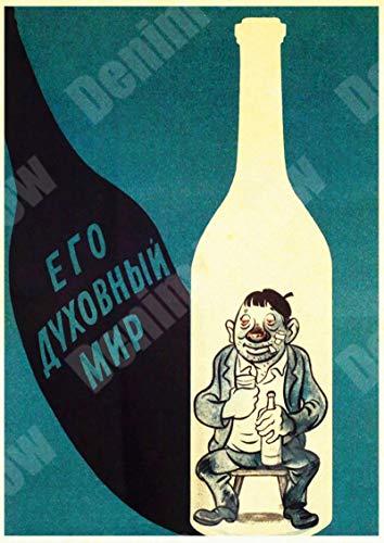Jinlyp Cartel de Metal de carácter soviético Retro, Cartel de Chapa, Bar, cafetería, decoración de Bar, Arte de Pared Ruso para Mujer, Pegatina de Metal 20x30cm U
