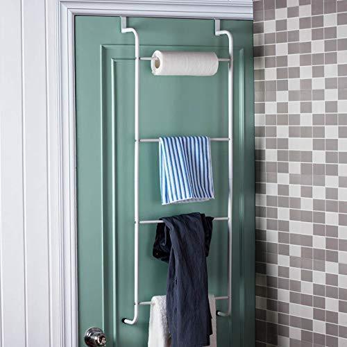 Moderne minimalistische zeer dragende handdoekhouder badkamer handdoekhouder plank badkamer handdoekhouder naadloze meerlaagse handdoekhouder ophangsysteem volgens nagelvrije kapstok wit wit