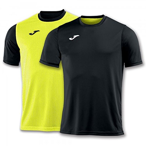 Joma Combi Camisetas Equip. M/c, Hombre, Negro-Amarillo, L