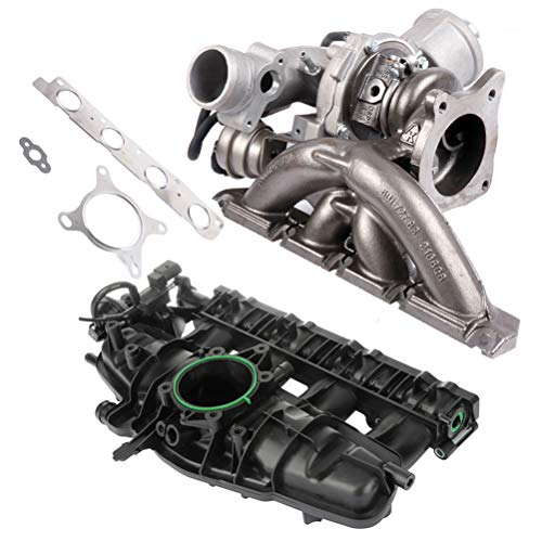 Turbo Turbocharger and Intake Manifold Fit for 2009-2013 Audi A3 2009-2013 Audi A3 Quattro 2009-2010 Audi TT Quattro 2008-2013 Audi A3 AUTOMUTO Engine Replacement Turbochargers