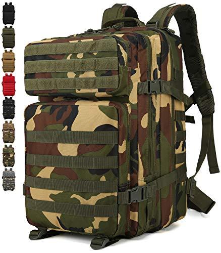 Doshwin Zaino Militare Tattico Molle Army US Assault Pack Military Tactical Backpack da Trekking Escursionismo Viaggio per Donna Uomo / 40L (Foresta)