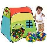LittleTom Bällebad Zelt 200 Baby Bälle Spielzelt 100x100x102cm Popup Spielhaus