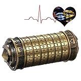 Zonfer Regalos De Boda Código De Bloqueo Juguetes De Metal Cryptex Cerraduras Retro Día De San Valentín Carta De Regalo Contraseña Escape Cámara Puntales