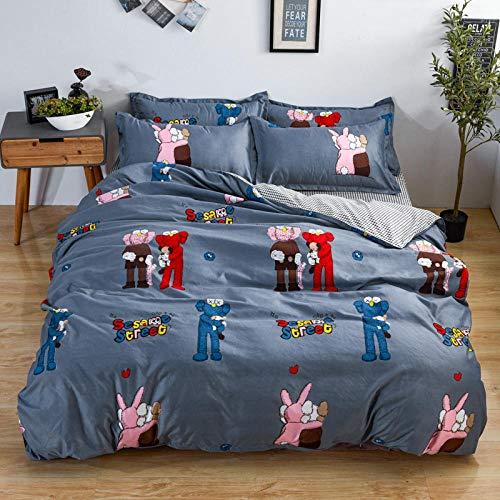 WOGQX bedroom Microfiber Bedding Double,Queen-size bedding set, microfiber reactive printing queen-size bed sheet-AA34_220 * 240