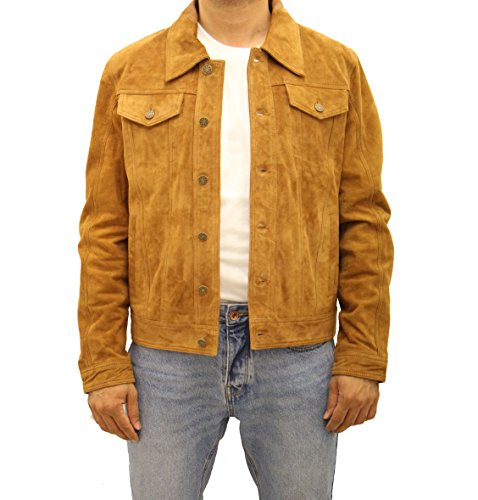 Herren echte Wildlede LŠssige Denim Jeans Stil Western Jacke In vielen Farben