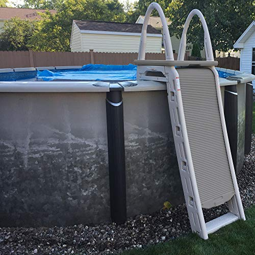 Confer Plastics 7200 Roll Guard 48-56 Inch A Frame Safety Swimming Pool Ladder