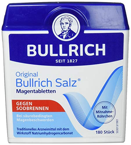 Bullrich Salz Tabletten, schnelle Hilfe bei Sodbrennen und säurebedingten Magenbeschwerden, 6er Pack(6 x 180 Stück)