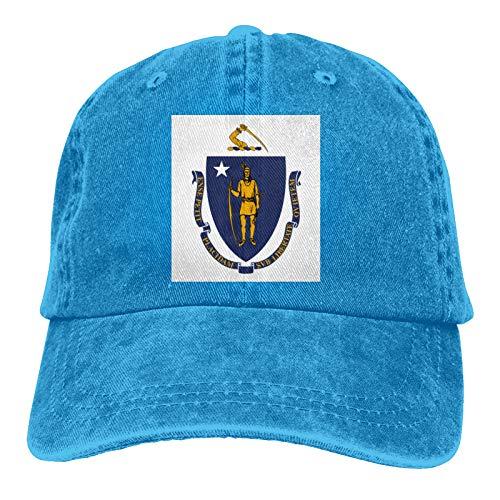 Massachusetts Adult Cotton Adjustable Outdoor Cowboy Hat Hip Hop Hat
