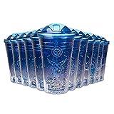 Constellation Water Bottle Cup Travel Mug with Lid Straw 18 oz Zodiac Sparkle Blue TNN04 (Capricorn)