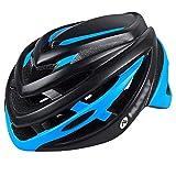 YoLiy Cascos Moto Casco for Montar en Bicicleta Hombres y Mujeres Gorra de Casco de Bicicleta de montaña en Molde Equipo de Casco de Gran tamaño Medida de Seguridad (Color : Black Blue, Size : L)