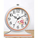 Fengshop Orologio Digitale American Living Room Big Wall Clock Nordic Retro Orologio Modern Creative Mute può Essere collocato in Un Orologio Classico Europeo Sveglia Digitale (Color : B)