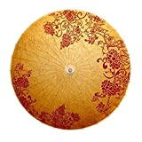 CTPLIKMH Ombrello 70 cm Parasole Tradizione Classico Tavolo da Parati DAR Decor Dance Maniglia in Legno Hang Ombrello Immaterial Cultura Vintage Piove Ombrello (Color : E 70cm)