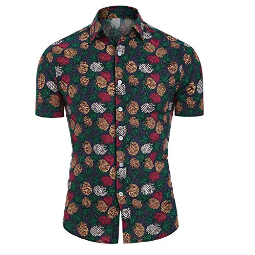 Herren Hemd Strandhemd Hawaiihemd Kurzarm Button Down Graphic Hemden T- Shirts Urlaub Hemd Freizeit Reise Hemd Party Hemd