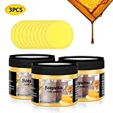 CARGEN 3 PCS Wood Seasoning Beewax Natural Beewax Traditional Wood Wax Multipurpose Beeswax Furniture Polish for Wood...