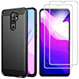 AOYIY For Xiaomi Redmi 9 Case And Screen Protector,[3 in 1]