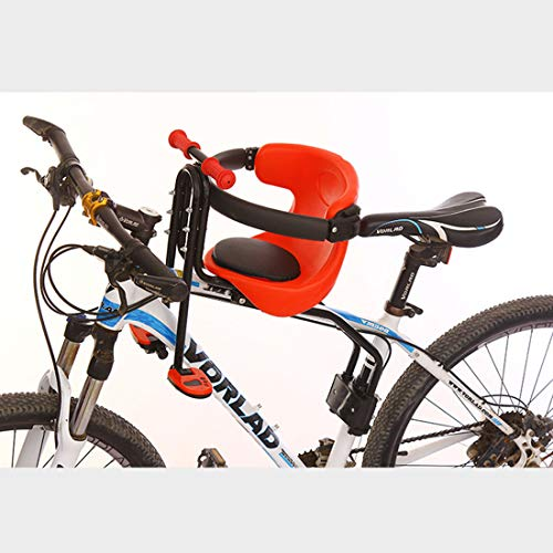 PHYNEDI Seggiolino Anteriore per Bicicletta Bambino Sella per Bici con Regolabile Poggiapiedi Sbarre di Sicurezza per Mountai Bike/Bicicletta Elettrica, Supporti Fino a 50kg