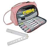 Rosa Pencil Case Durevole Caso Matita di Grandi Dimensioni per Scuola Ufficio College Girl...