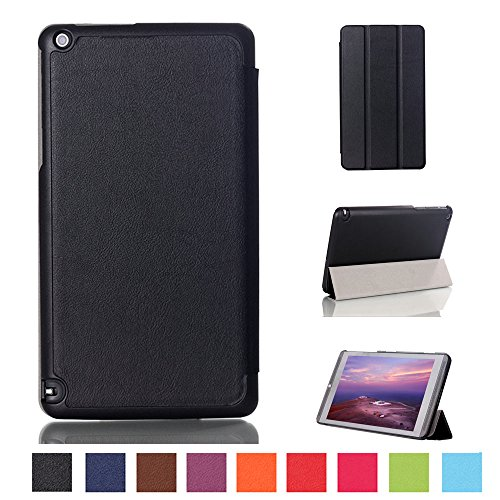 Kepuch Custer Funda para NVIDIA Shield Tablet 8 Tablet K1,Slim Smart Cover Fundas Carcasa Case Protectora de PU-Cuero para NVIDIA Shield Tablet 8 Tablet K1 - Negro