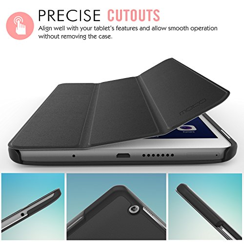 MoKo Huawei MediaPad M3 8.4 Hülle - Ultra Slim Lightweight Schutzhülle Smart Cover Standfunktion für Huawei MediaPad M3 8.4 2016 Tablet-PC perfekt geeignet, Schwarz - 4
