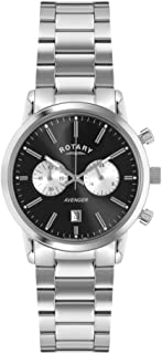 Rotary Men's GB02730/04 Avenger Analog Display Quartz Silver Watch