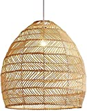 Aplique de exterior Mano tejida de bambú ratán de mimbre linterna lámpara de ratán colgante lámpara vintage lámpara colgante de la vendimia decoración del hogar café restaurante lámpara de mano retro
