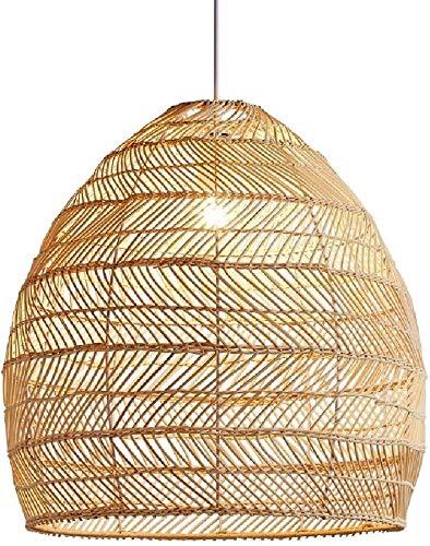 Aplique de exterior Mano tejida de bambú ratán de mimbre linterna lámpara...
