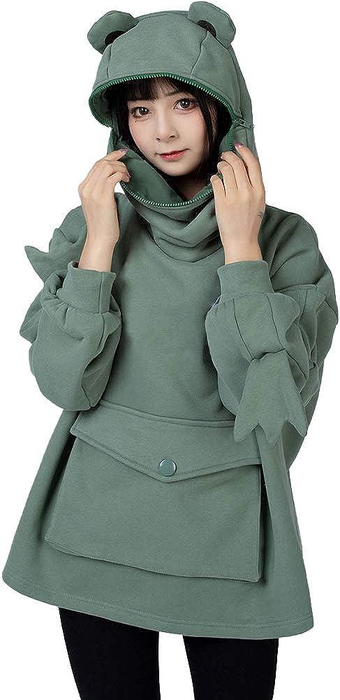 Cosfun Novelty Frog Oversized Under blast sales Hoodie Sweatshirt Excellence Pullover Tops C0