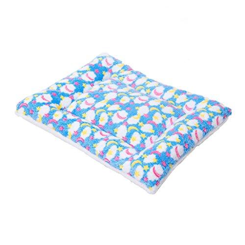 Moolo Pet Bed multiuso in velluto di corallo cotone pad Four Seasons universale morbido confortevole traspirante caldo Letto per cani (Colore : Blu, dimensioni : S.)
