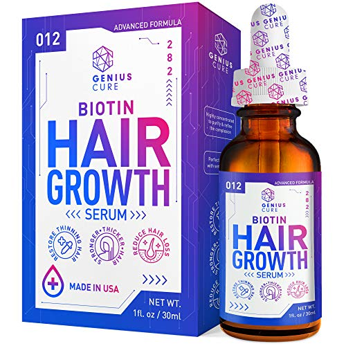Hair Growth Serum, Hair Growth Treatment,Hair Serum, Hair Loss & Hair Thinning Treatment, Hair Growth Oil Biotin for Stronger, Thicker, Longer Hair 1oz
