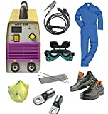 KROST TC7730 Compact Powerful Welding Inverter Machine-Arc 200 with Safety Equipments and Welding Accessories Goggle Combo