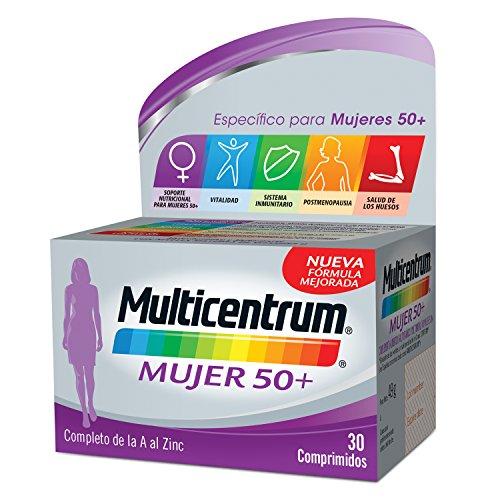 Multicentrum Mujer 50+, Complemento alimenticio con 13 vitaminas y 11 minerales, para mujeres a partir de los 50 años - 30 Comprimidos