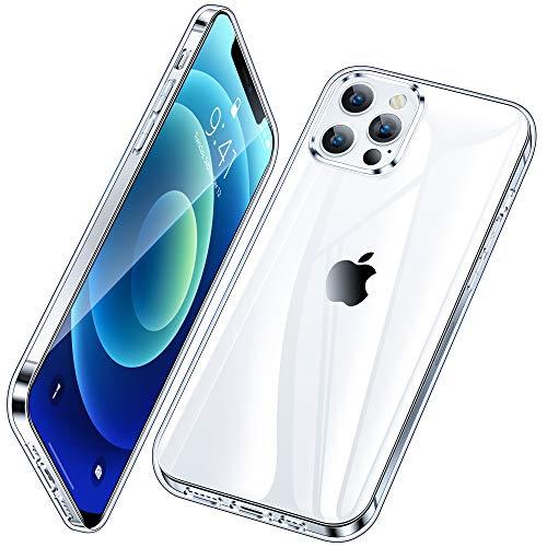 Vakoo Serie Clear Cover Compatibile con iPhone 12 e iPhone 12 PRO, Anti Graffio, Morbido e trasparente Compatibile con iPhone 12/12 PRO - Trasparente