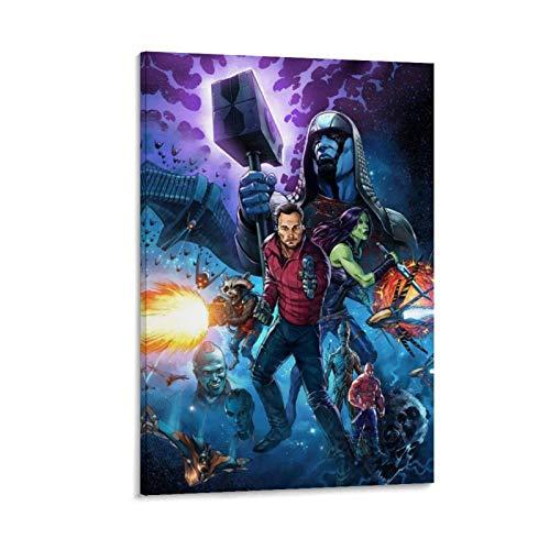 Póster de la película Guardianes de la Galaxia, Vol. 2, pintura al óleo, colorido arte de pared, impresión en lienzo y carteles para sala de estar, listo para colgar, 50 x 75 cm