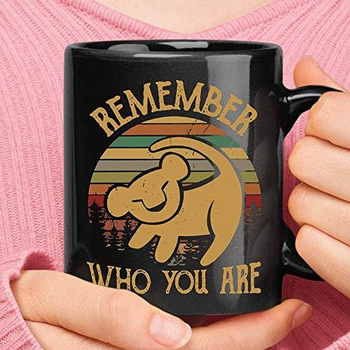 N\A Dibujo de Cueva de Pared de Simba Recuerda quién Eres Taza Vintage del Rey león - Taza Divertida de Halloween y Navidad - Taza de café