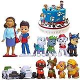 Paw Patrol Minifiguren-Set, Cupcake-Topper, Partyzubehör, Cupcake-Figuren, Party-Kuchen-Dekoration, 12-teiliges Set