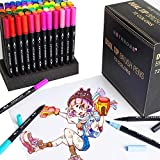 Best Brush Tip Markers - Hethrone 72-Color Dual Tip Brush Marker Pens Set Review