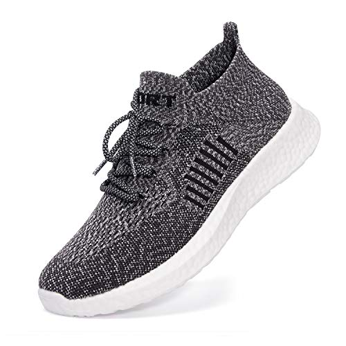 JIASUQI Comfy Casual Walking Shoes Athletic Tennis Sneakers for Men and Boy 11 M US Dark Grey