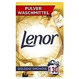 Lenor Waschmittel Pulver, Waschpulver Grosspackung, Lenor Goldene Orchidee, Waschmittel Color, 130 Waschladungen (8.45 kg)