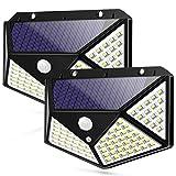 Motion Sensor Solar Lights, Waterproof Outdoor Wall Night Light, 100 LEDs 270° Wide