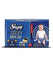Sleepy Jeans Külot Çocuk Bezi, 3 Beden, Midi, 34 Adet