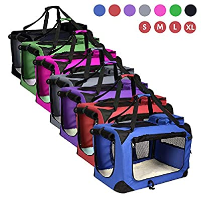 AVC Portable Soft Fabric Pet Carrier Folding Dog Cat Puppy Travel Transport Bag from AVC