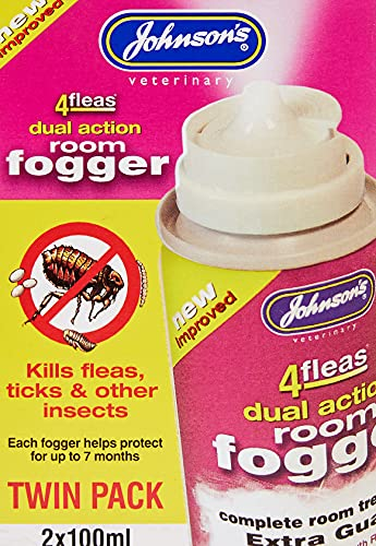 Johnsons Vet 4 Fleas Room Fogger Spray Twin Pack