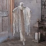 Fun Express Hanging Skeleton Mummy with Noose (Hangs Over 3.5 feet) Halloween Decorations