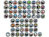 Sheet of All 63: 2.5 inch Round National Park Stickers (rv Hike np Laptop Travel Set)