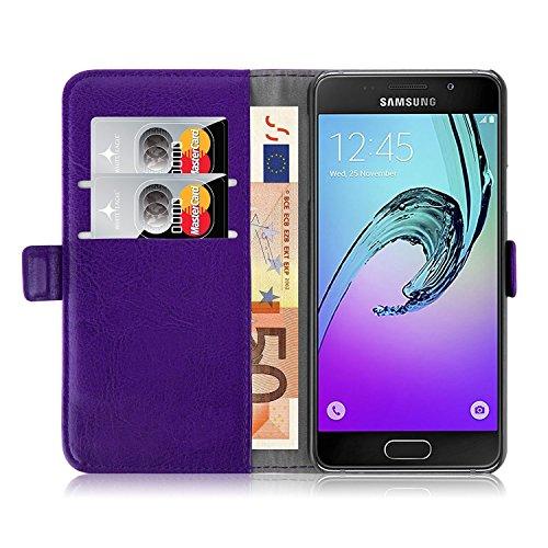 iPro Accessories Schutzhülle für Samsung Galaxy A3 2017, PU-Leder, stoßfest, Kunstleder, violett, Samsung Galaxy A3 2017