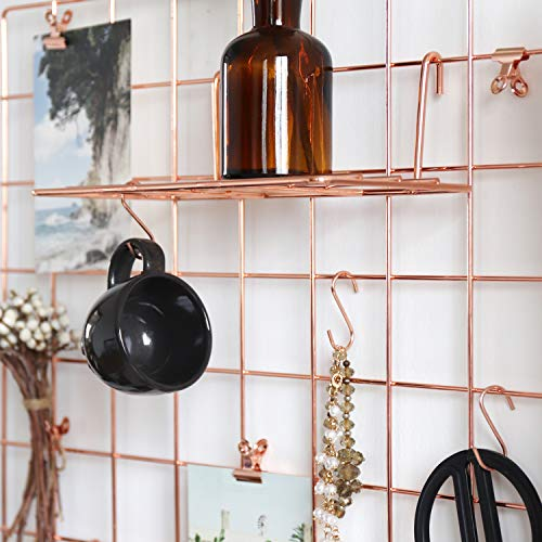 A Wire Wall Grid works great above your bed as a nightstand alternative in a small bedroom